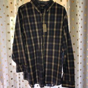 NWT Reed Edward plaid button down shirt XL